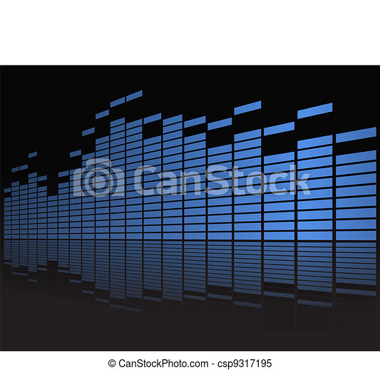 Graphic equalizer in perspective - csp9317195