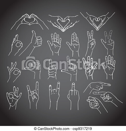 Gestures of human hands - csp9317219