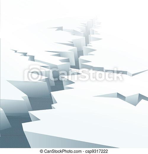 Ice floe - csp9317222