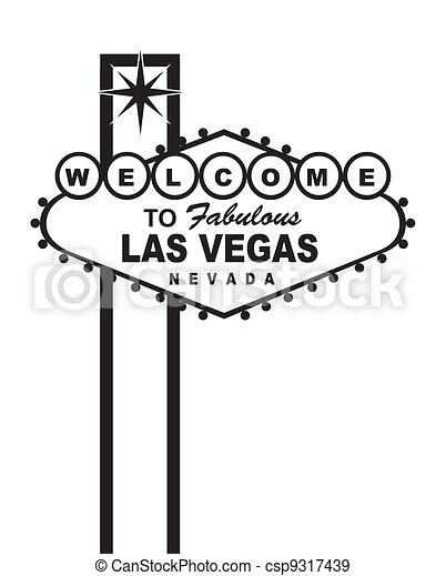 welcome las vegas - csp9317439