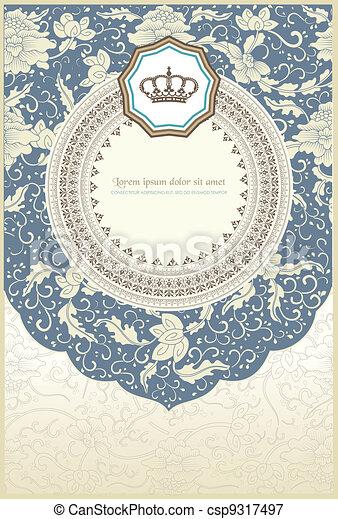 baroque card - csp9317497
