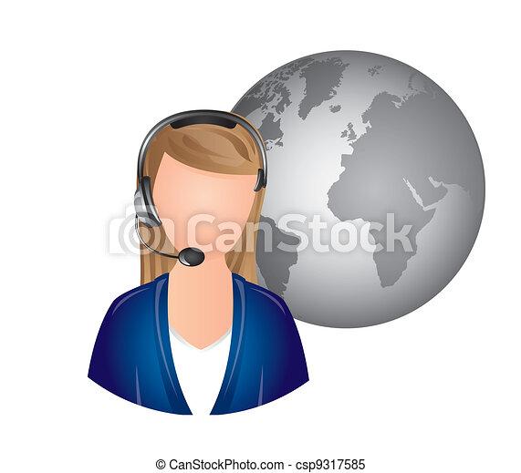 receptionist - csp9317585