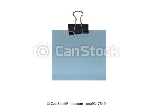 Memo holder with blank card isolate - csp9317640
