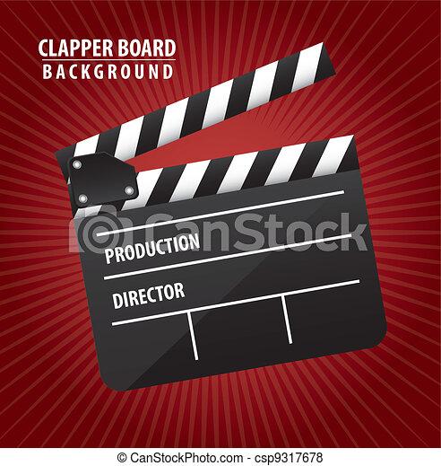 clapper board - csp9317678