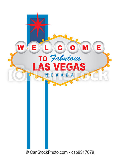 welcome las vegas - csp9317679