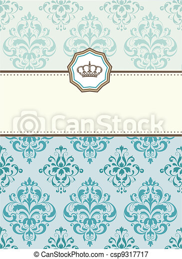 baroque card - csp9317717