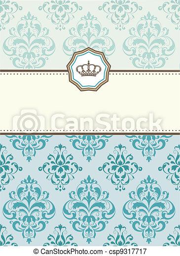 baroque card - csp9317717