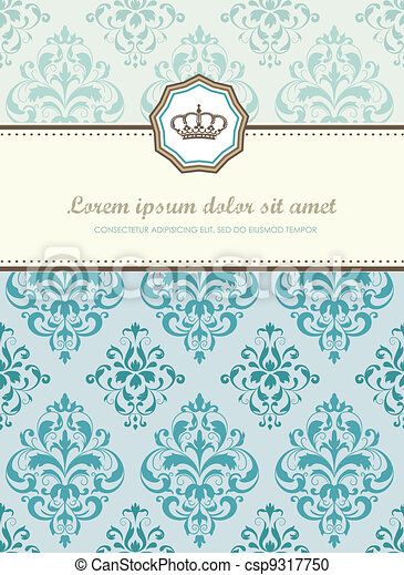 Baroque card - csp9317750