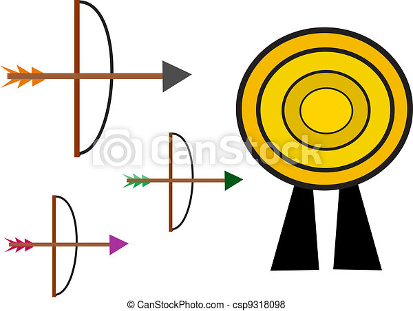 Bow and Arrow Target - csp9318098