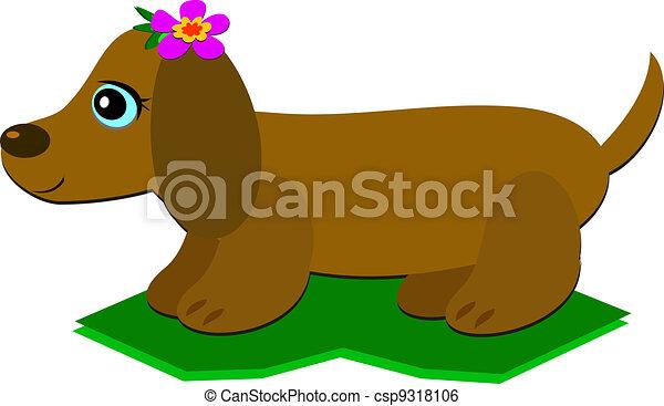 Vector Clipart of cartoon dachshund csp19395705 - Search Clip Art ...