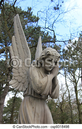 Guardian Angel grave monument - csp9318498