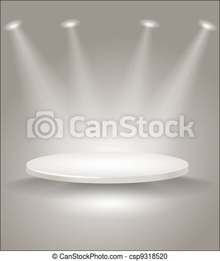 Bright stage with spot lights - csp9318520