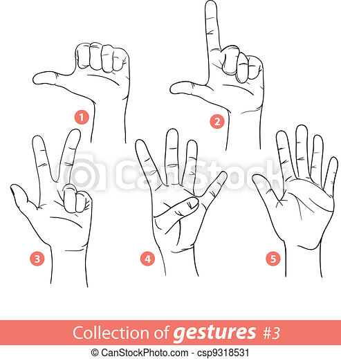Gestures of human hands - csp9318531