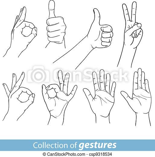 EPS vector de gestos, humano, Manos csp9318534 - Buscar Clipart ...