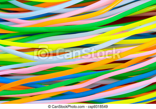Colourful plastic cables - csp9318549