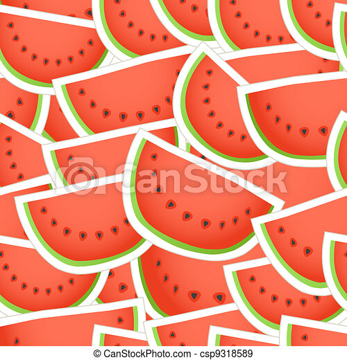 Red water melon seamless background - csp9318589