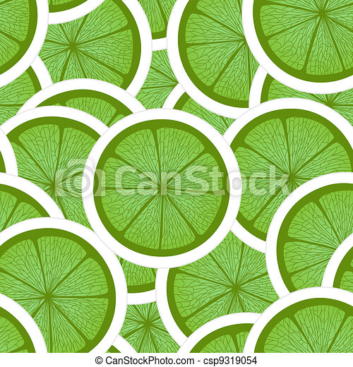 Green lime seamless background - csp9319054