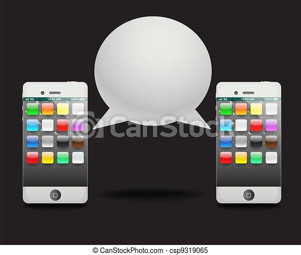 Modern phone? with speech cloud. Conversation - csp9319065