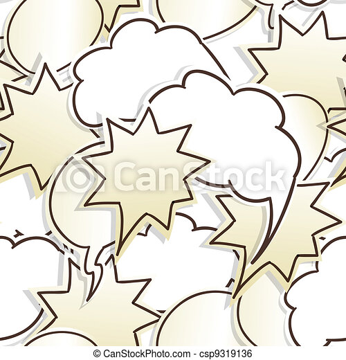 Paper speech clouds seamless background - csp9319136