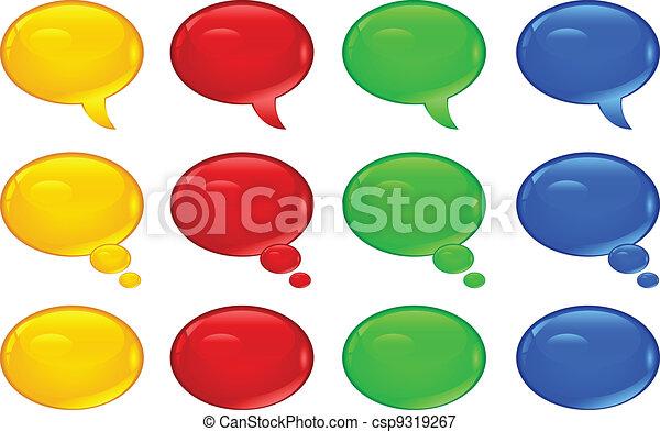 Round speech bubbles - csp9319267