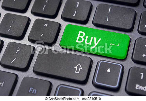 buy concepts for online shopping or stock market - csp9319510