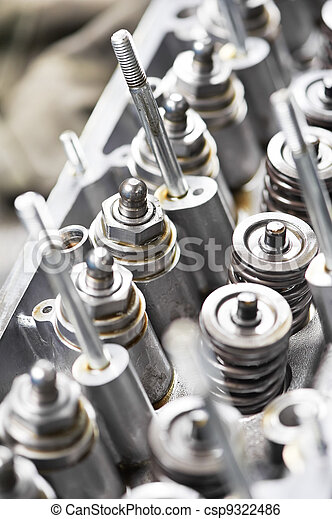 Close-up of automobile cylinder head - csp9322486
