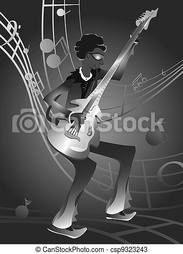 Groovy Bassist - csp9323243