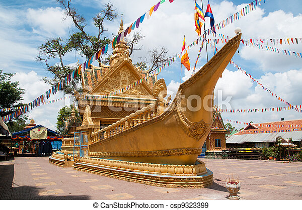 Wat Sampov Treileak in Phnom Penh, Cambodia - csp9323399