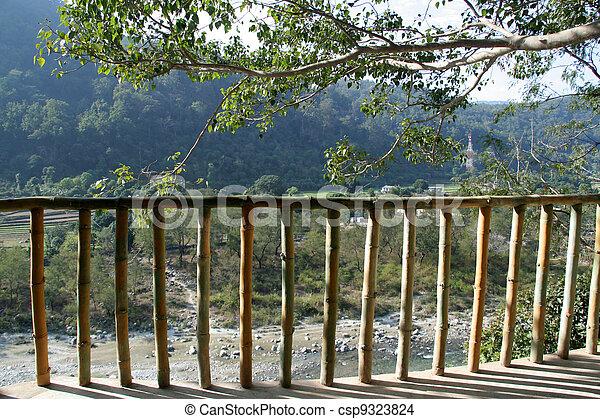 photo de bambou barri re d coratif barri re de bambou sur csp9323824 recherchez des. Black Bedroom Furniture Sets. Home Design Ideas