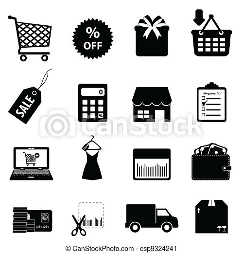 Shopping and ecommerce - csp9324241