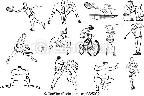 sports icons - individual - csp9325037