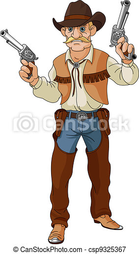 Wild west.  Cowboy  ready for shoo - csp9325367