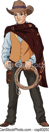 Wild west.  Young cowboy - csp9325368