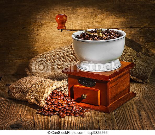 grinder and other accessories for the coffee - csp9325566
