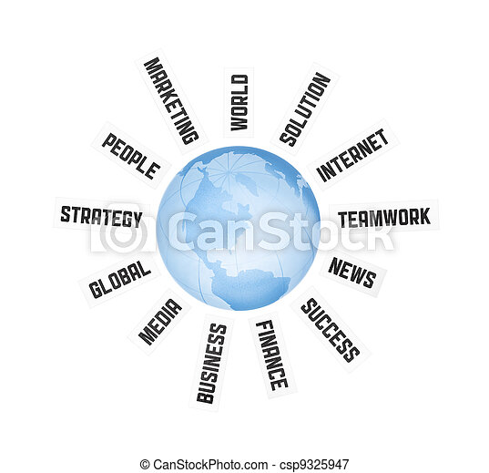 Global Business Communication Concept - csp9325947
