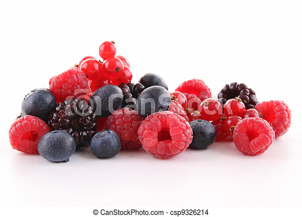isolated heap of berries