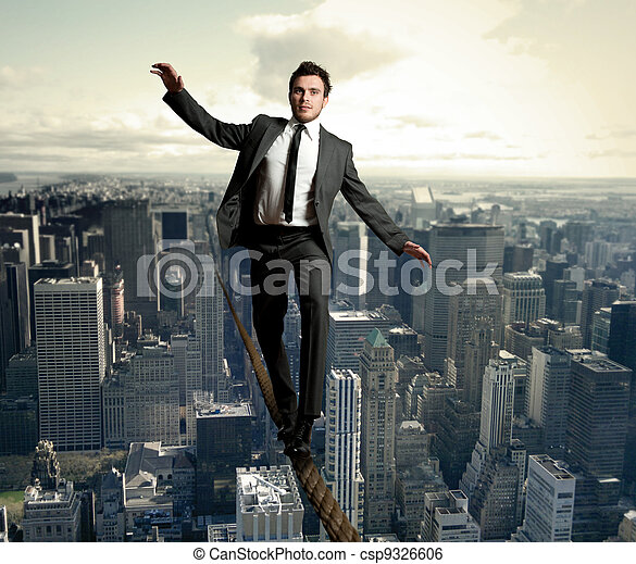 Equilibrist businessman - csp9326606