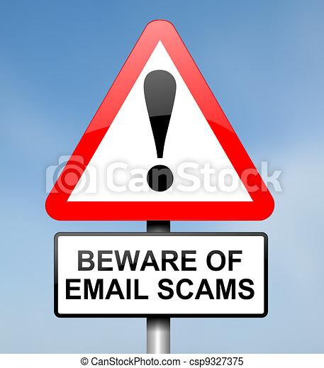Archivio illustrazioni di concetto scam email for Concetto aperto di piani coloniali