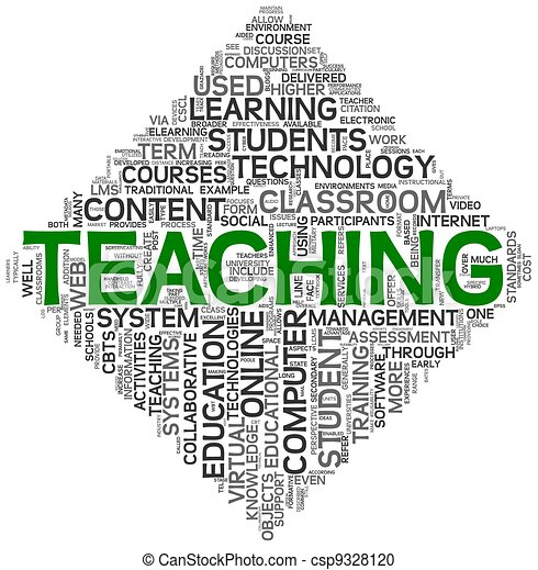 Teaching concept in tag cloud - csp9328120