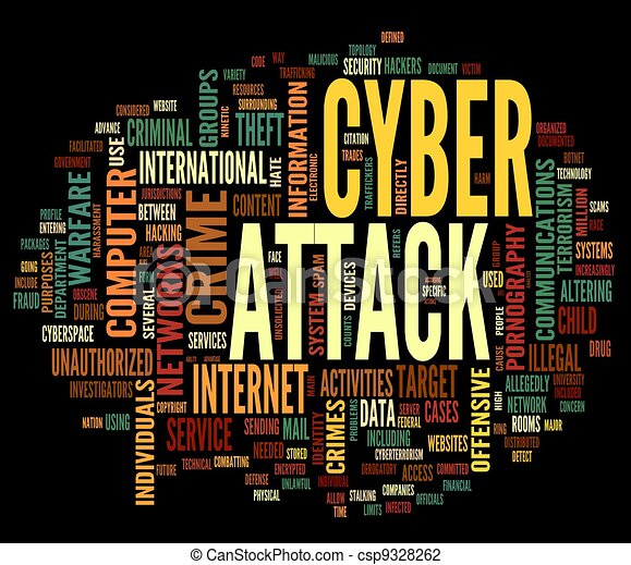 Cyber attack in word tag cloud - csp9328262