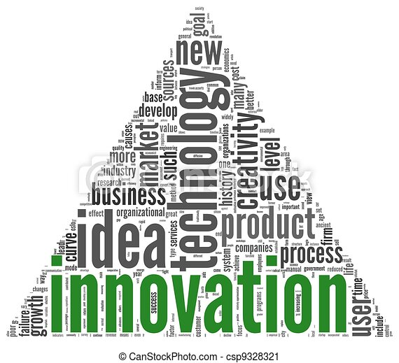 Innovation concept words in tag cloud - csp9328321