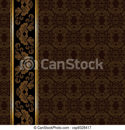 Brown vintage ornaments - csp9328417