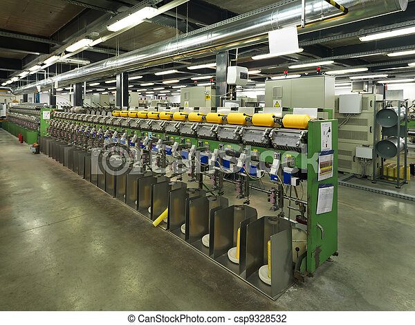 detail of thread factory production line - csp9328532