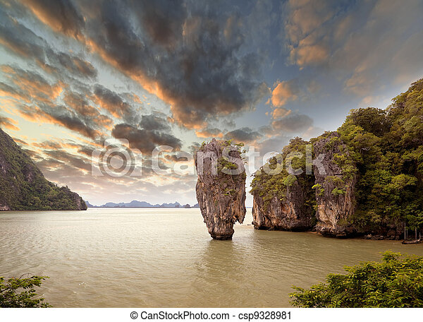 James Bond Island, Phang Nga, Thailand - csp9328981