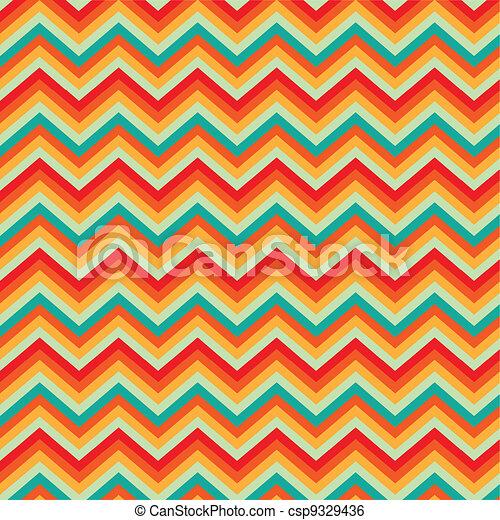 Pattern Retro Zig Zag Chevron - csp9329436