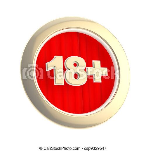 Age limit (18+) round symbol isolated - csp9329547