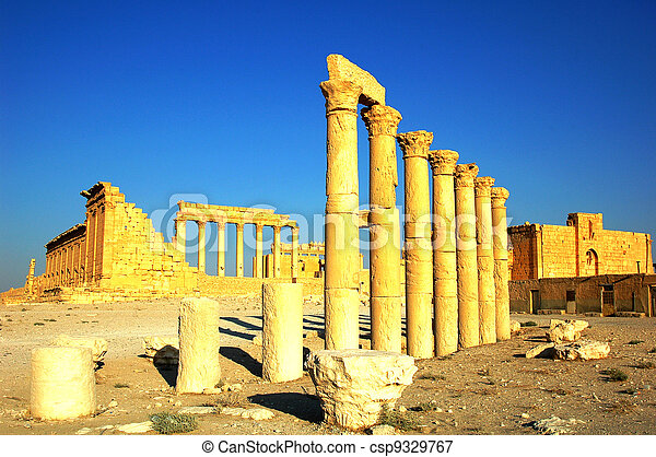 Relics of Palmyra in Syria - csp9329767