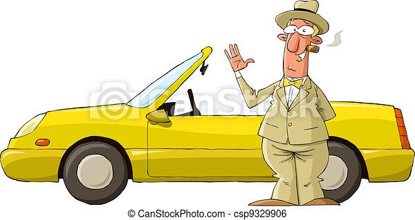 Yellow car - csp9329906