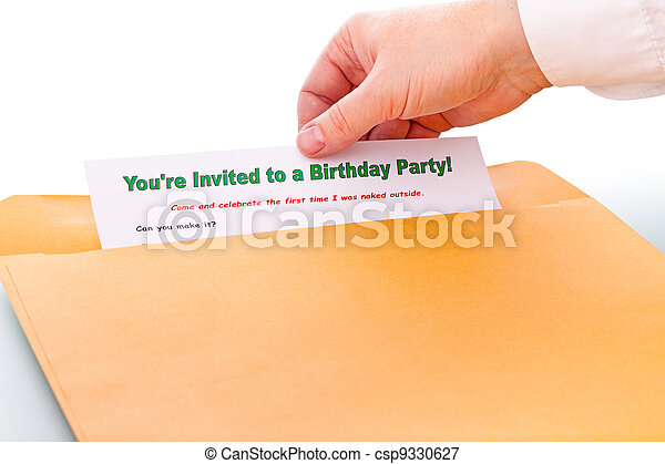 You're invited to a Birthday Party ! - csp9330627