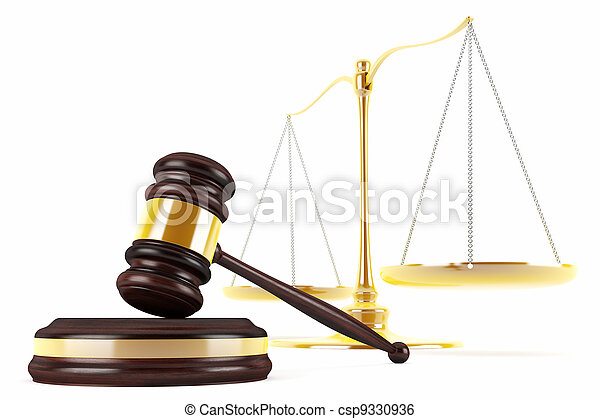 Gavel and scales - csp9330936